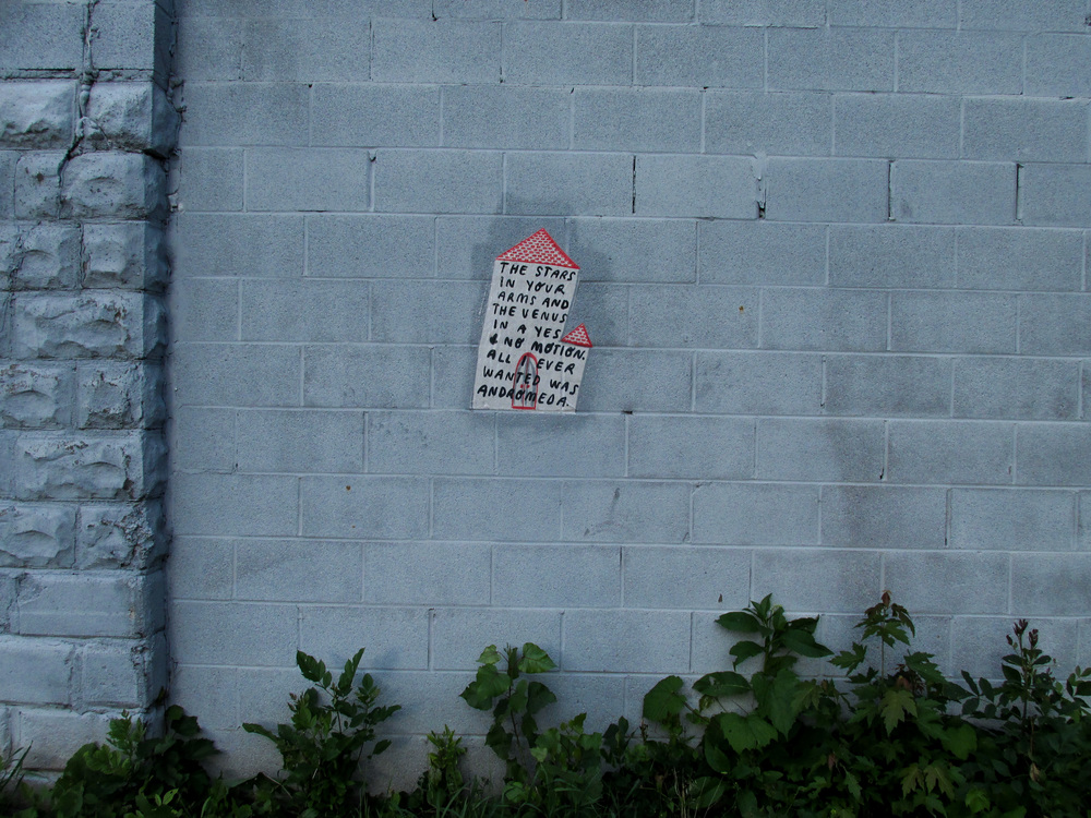 """""""All I Wanted was Andromeda"""" by Steven Rainey and Mary Rothlisberger. Installed at Dinderbeck"""