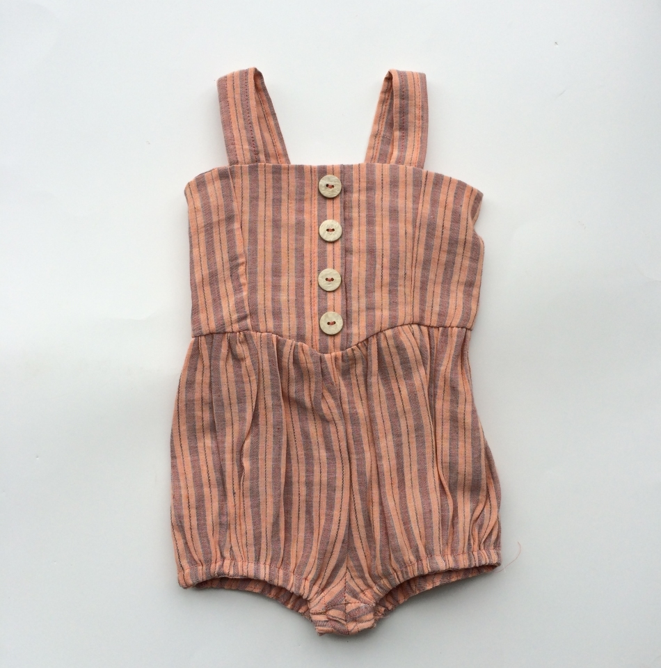 INDIVIDUAL MEDLEY - CIRCUS JUMPER, PEACH STRIPE  for the new babe in your life