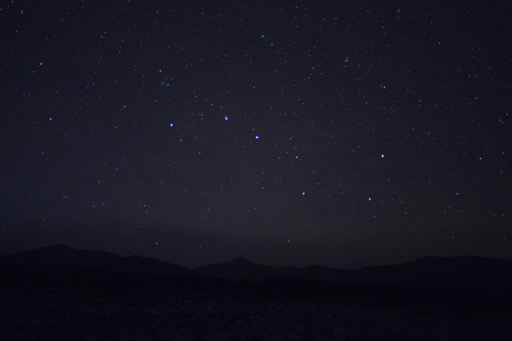 Big Dipper rising over the Centeral Sikohte-Alin Mountains.