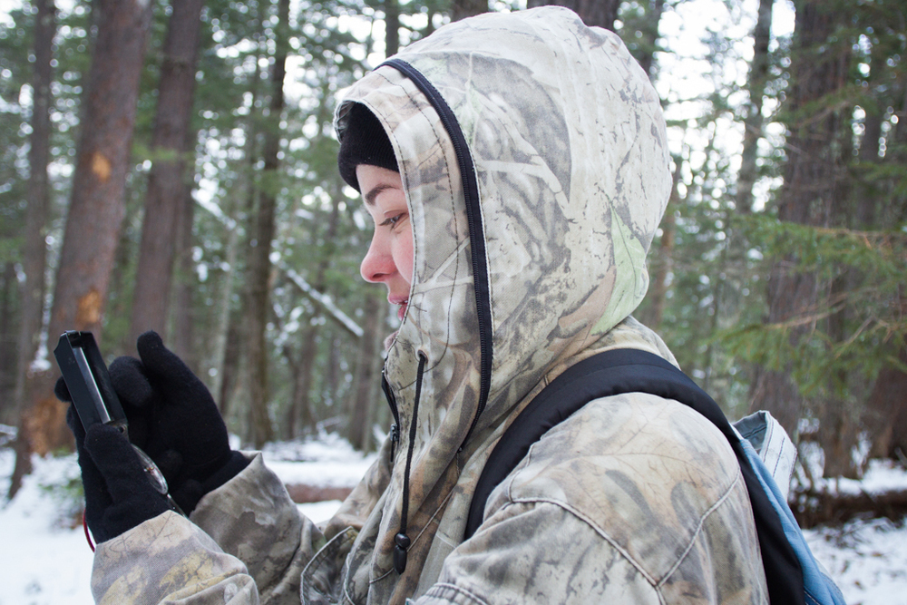 "Using radio telemetry and a compass, Dasha says "" I can see him whenever I want"". ""Him"" being the two-year-old musk deer that is a part of her graduate thesis study of small ungulate."
