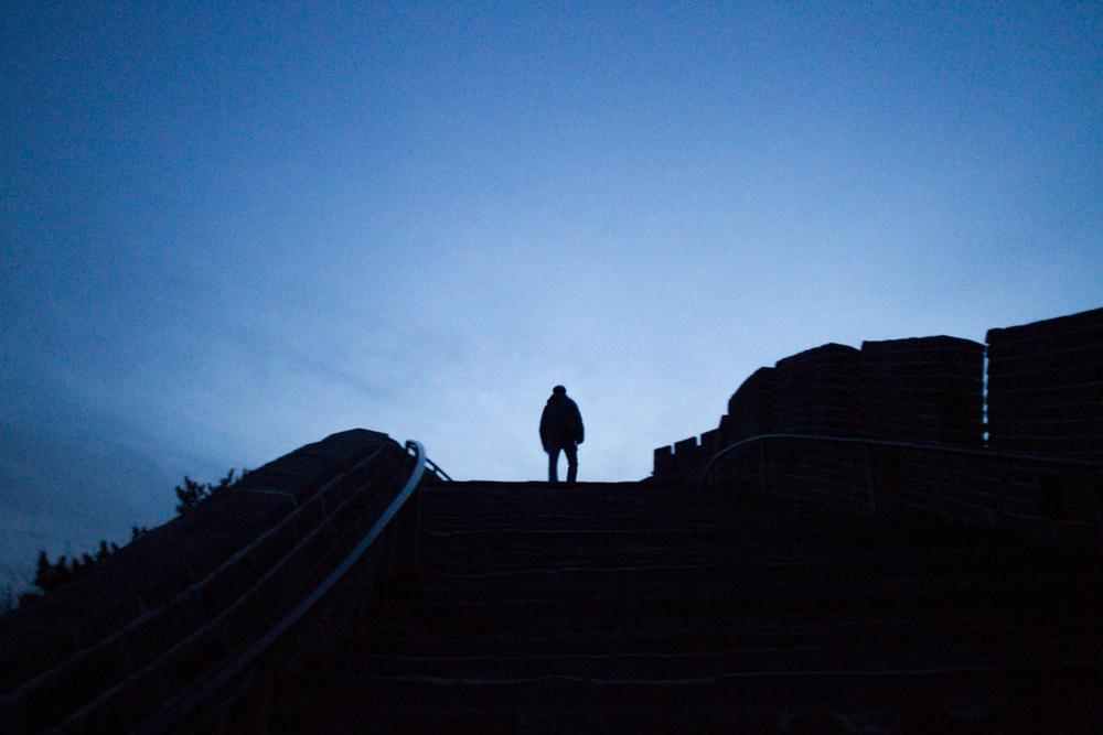 David on The Great Wall at Badaling.