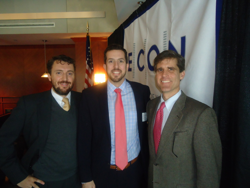 Giles Ward, Zach Hunt and ECON President Tom Harwell at the January 14, 2014 meeting.