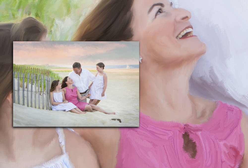 Marrin Famiky Beach-11  close uppainting.jpg