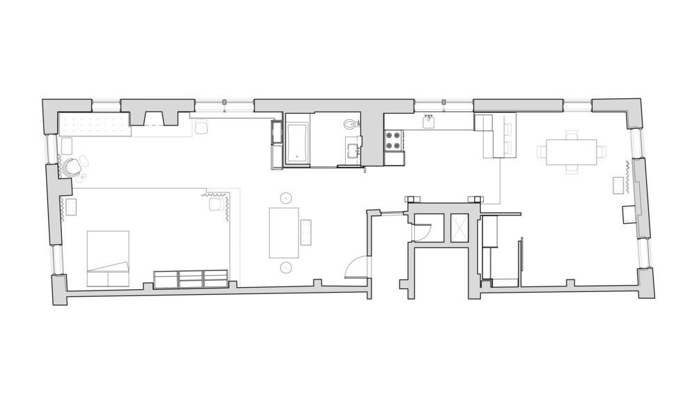 West Village loft renovation by Hellow Studio