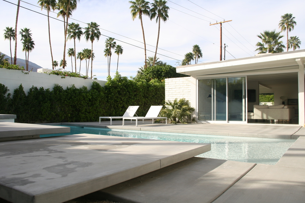Palm Springs Residence Architectural Design Backyard
