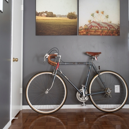 Apartment Therapy House Tours Week of February 7 - February 11, 2011 | Apartment Therapy Los Angeles I must must must bring my bike inside tomorrow now that the snow's melted.  If only it matched my my apartment like this bike.