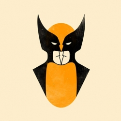 A New Poster By Olly Moss. Wolverine And Batman In The Same Face! Check It Out! - #38068 - NOTCOT.ORG