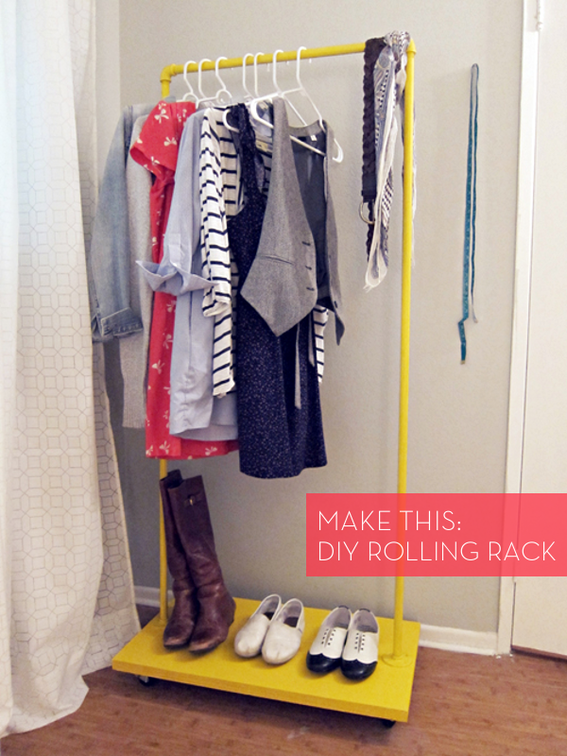 How To: Make a Colorful DIY Rolling Clothes Rack for Cheap!    (via  Curbly )