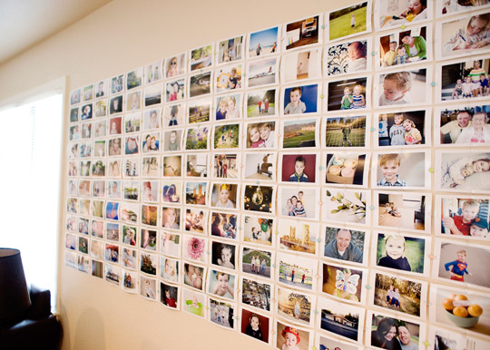 Make Your Own Photo Wall   ( the Creative Mama  via  Apartment Therapy )