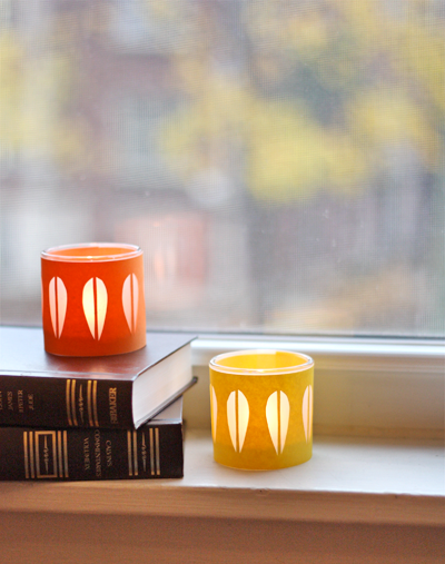 DIY Cathrineholm candleholders (via How About Orange)