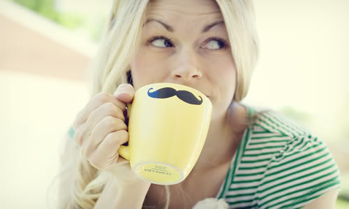 Mustache Mug DIY   (via  Craftzine )