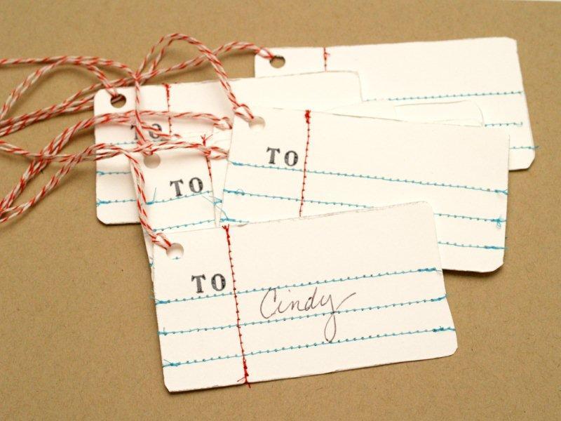 Penmanship Gift Tags DIY (via Flamingo Toes)