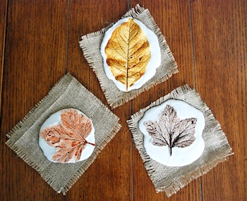 Plaster Leaf Print DIY (via The Crafty Crow)