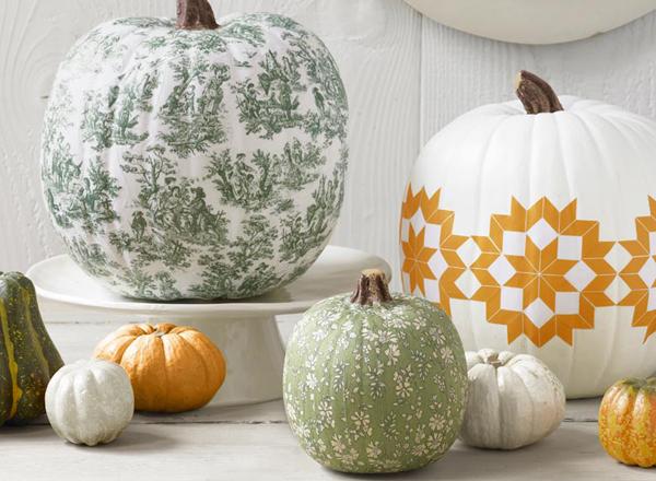 Decoupage pumpkin DIY (via Sugar and Charm)