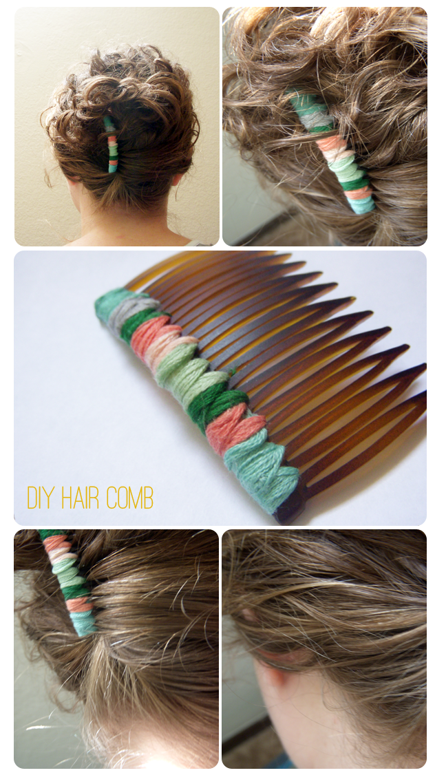DIY Hair Comb (via BLEUBIRD VINTAGE)