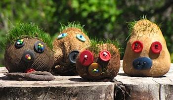 (via Grass Head Creatures - The Crafty Crow)