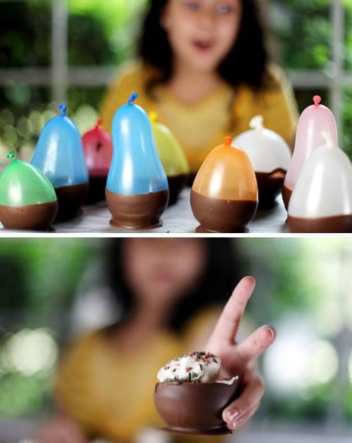 Yum!   (via  How-To: Chocolate Bowls @Craftzine.com blog )