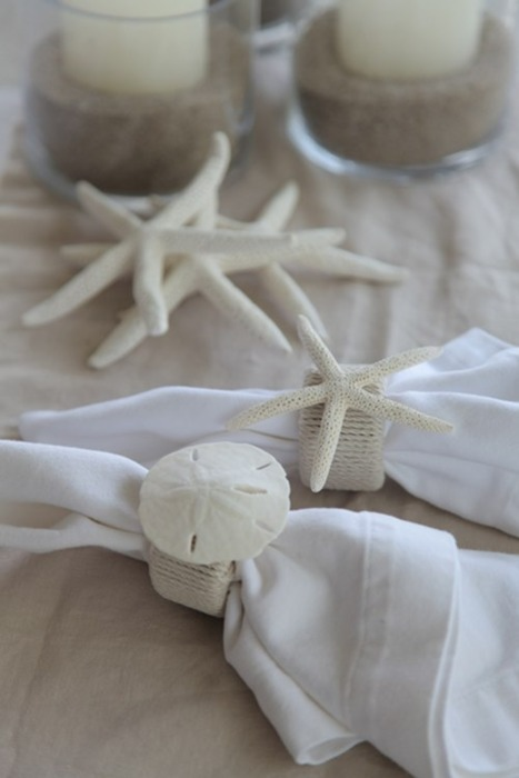 (via diy project: beachy napkin rings | Design*Sponge)