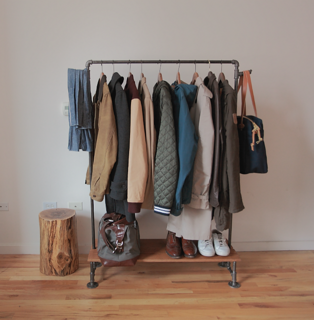 Very much appreciated by us closet deprived New Yorkers! (via How to Make a DIY Industrial Coat Rack » Curbly | DIY Design Community « Keywords: DIY, industrial, coat, rack)