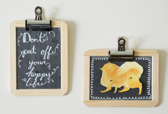 (via  5 Minute DIY: Chalkboard Frames - Home - Creature Comforts - daily inspiration, style, diy projects   freebies )