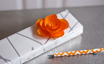 Gregarious flowers. (via Make flowers from crepe paper   How About Orange)