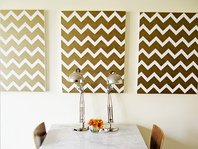 Sugar and Charm: chevron art for your wall!