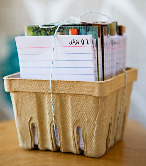 Design*Sponge » Blog Archive » diy project: vintage postcard calendar journal    I love this. Ordering supplies right now!