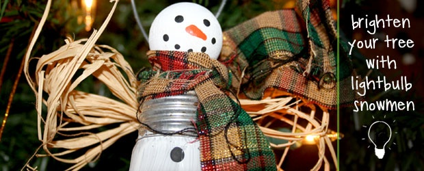 Craft Blog / DIY Lightbulb Snowmen Ornaments + 6 Snowman Patterns by COLOURlovers :: COLOURlovers    Sending bright thoughts to all rom Miami!