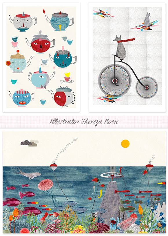 Inspired By: Artist Thereza Rowe - Home - Creature Comforts - daily inspiration, style, diy projects + freebies