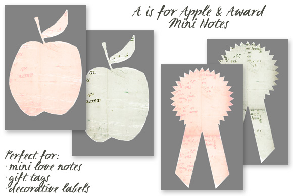 Free Printable: A is for Apple + Award MiniNotes - Home - Creature Comforts - daily inspiration, style, diy projects + freebies
