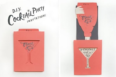 Design Crush: DIY Cocktail Party Invitations.    Time to have a party, methinks