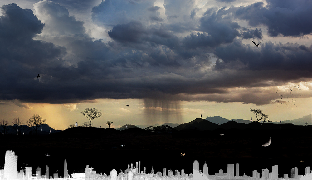 Power over the city (30x52 in)2013