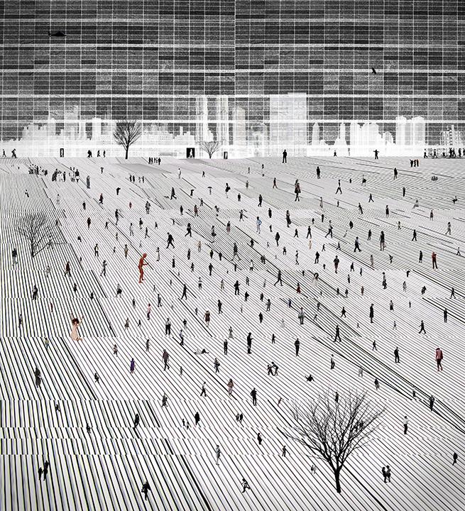 City Life-02(36x40 in)2014