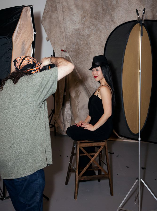 Brent Smith got this photo of me working in the headshot setup. Thanks, Brent!
