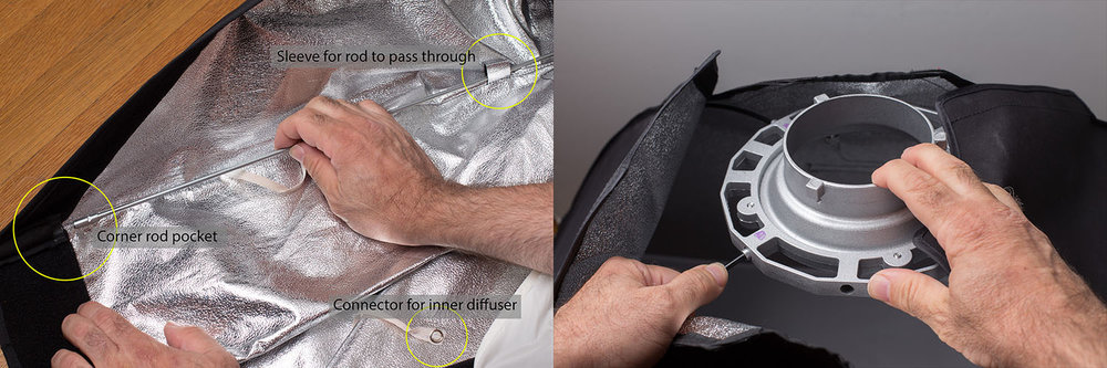 Intimidated about assembling your first softbox and speedring? Here's how!