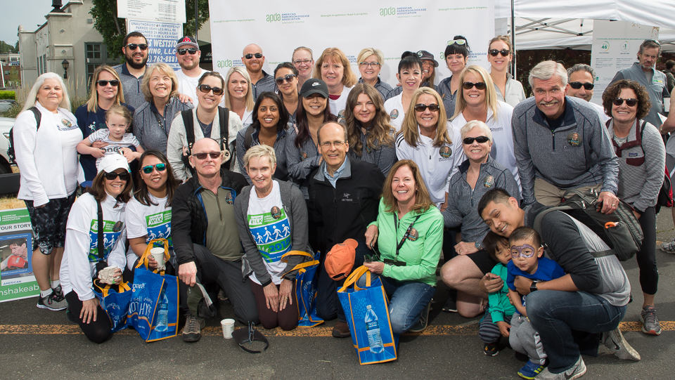 """APDA Walk group photo. Daylight with fill from an Interfit S1 with 7"""" dish reflector."""
