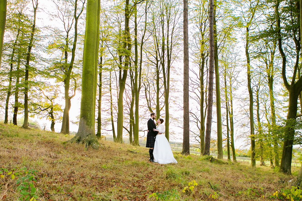 langley castle wedding photos