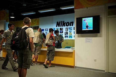 Nikon (and Canon) are loaning gear to the photographers.