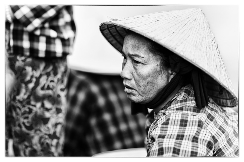 Vietnamese Woman at the Fish Market in Mui Ne