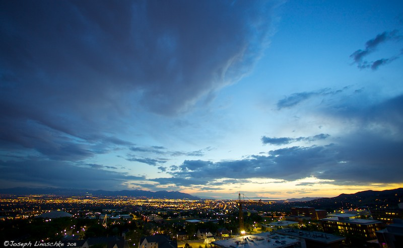 Salt Lake City, UT at Twilight