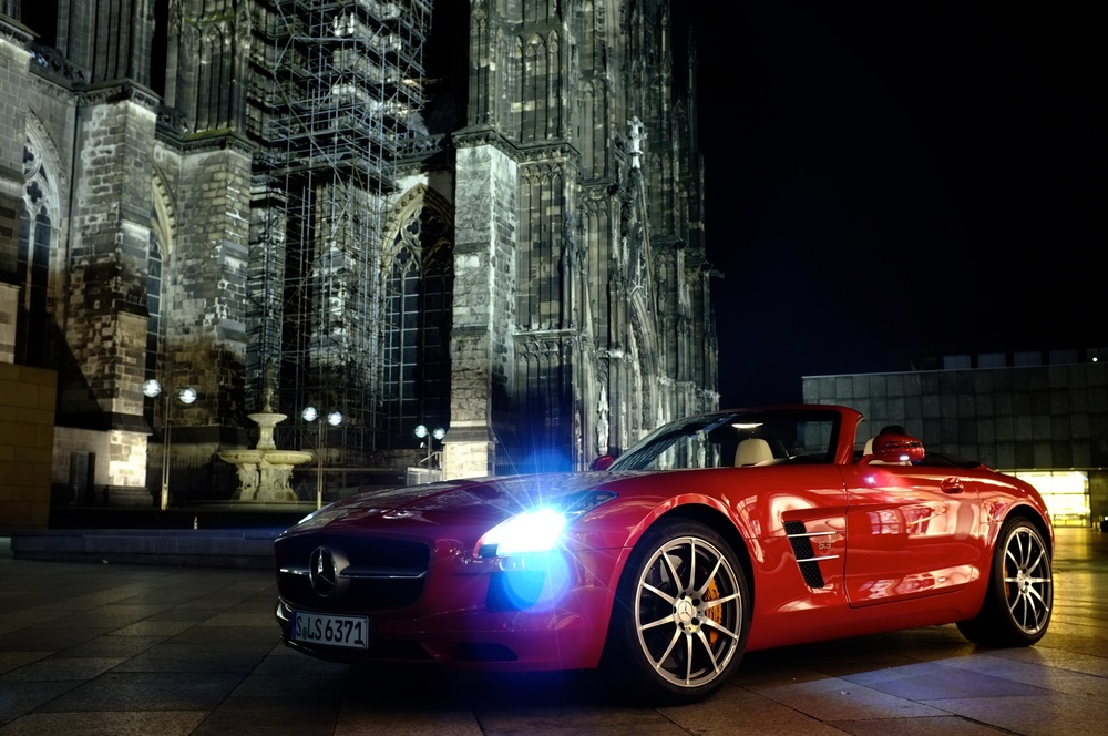 Mercedes SLS in Köln, Germany. Click the link in the article for an iPhoto for iPad published gallery