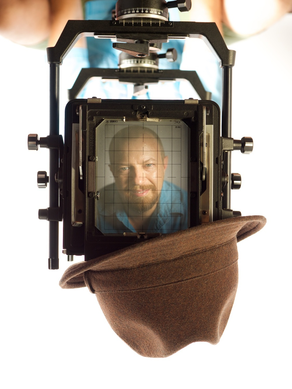 One of the better shots, now inverted to put my mug right-side up. But the hanging hat just was too weird.