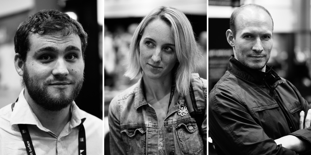 Show floor portraits from Adobe MAX, shot on the new  LUMIX GX8  with the delicious  Nocticron 42.5mm f/1.2  lens