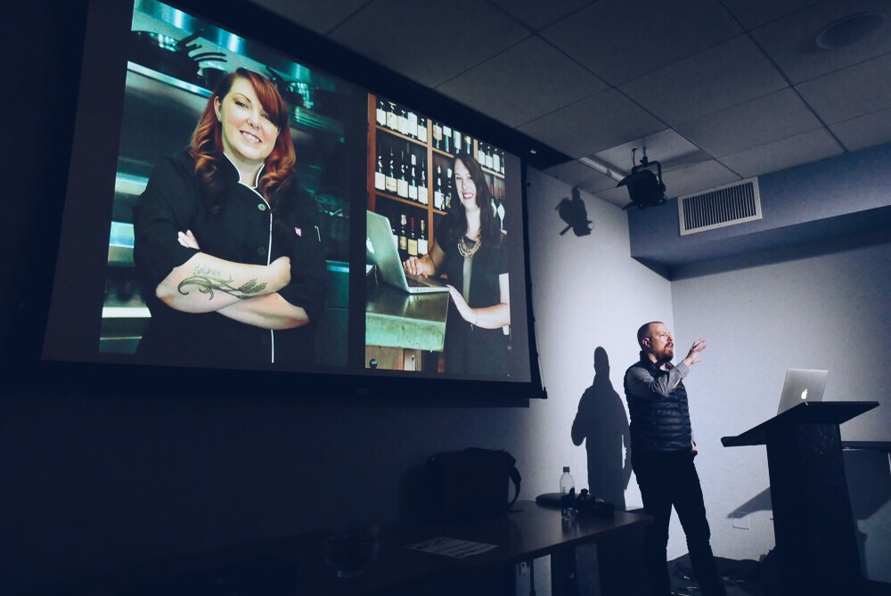 Talking about photography at B&H in New York