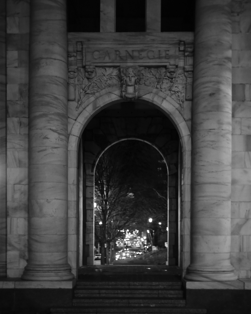 """CARNEGIE""… a cool archway just kind of sitting by the side of the road…"