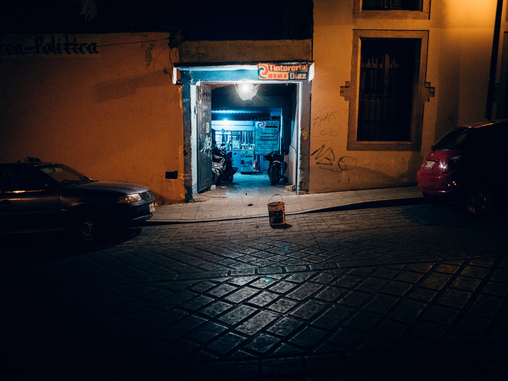 Exploring the streets of Oaxaca City at night
