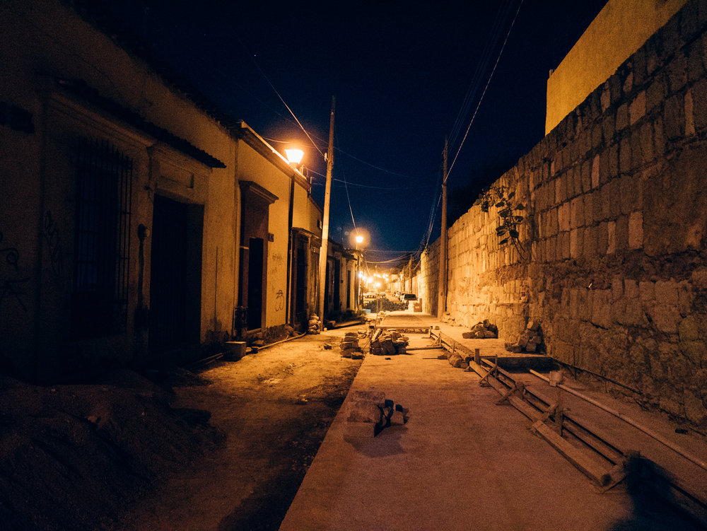 Late night wanderings. Much of Oaxaca is being built or rebuilt
