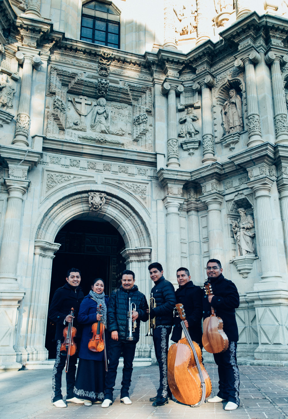 A mariachi band we befriended at the Basílica de Nuestra Señora de la Soledad