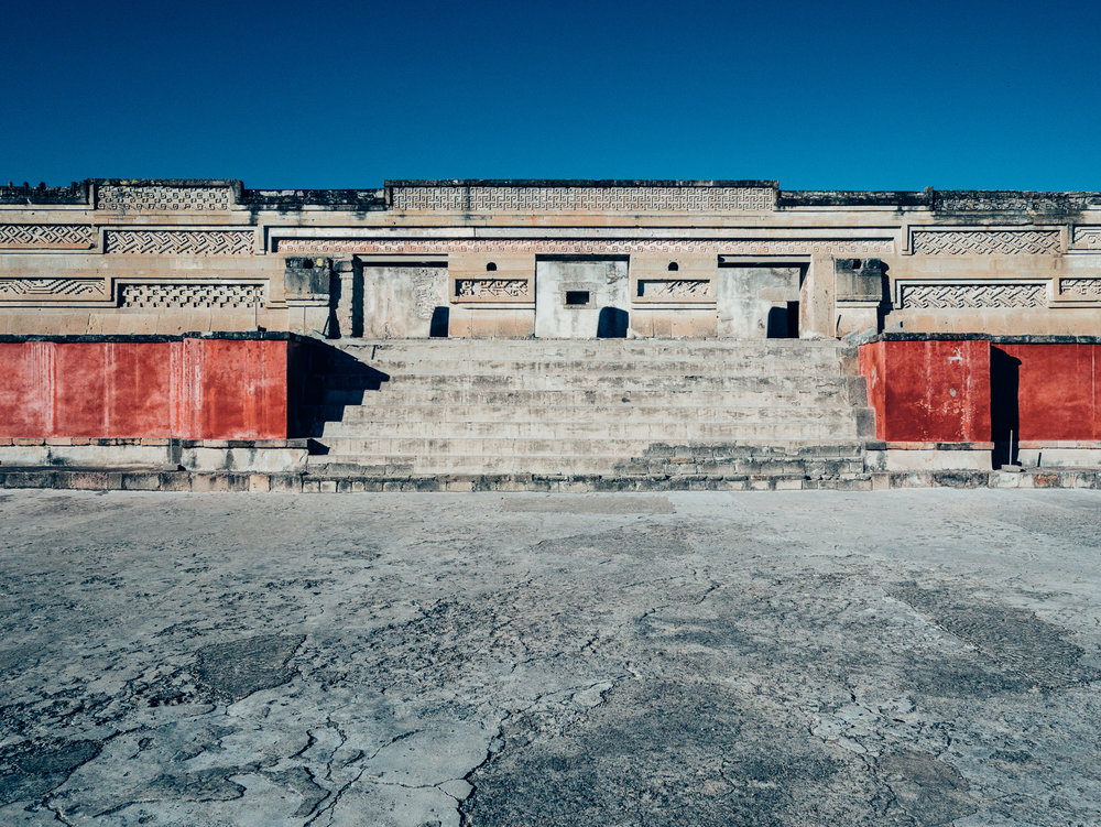 The Zapotech archeological site at Mitla is considered the second most important site in Oaxaca. Unfortunately it closes early (before sunset) and so the light isn't terrific.