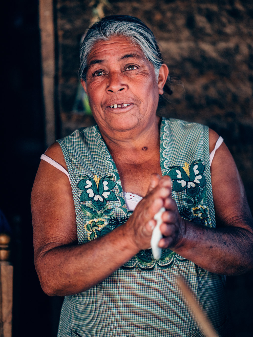 And this is Alicia! Full of smiles and laughter, patting out tortillas and making our wonderful breakfast.